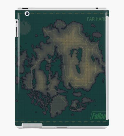 Far Harbor Blank Map iPad Case/Skin