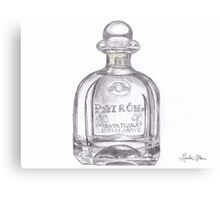 Patron Tequila Bottle  Canvas Print