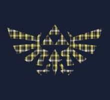 Zelda - Plaid Royal Crest Kids Tee