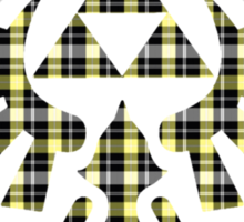 Zelda - Plaid Royal Crest Sticker