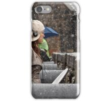 Snowing view iPhone Case/Skin