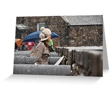 Snowing view Greeting Card