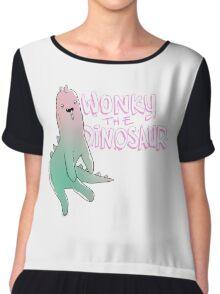 Wonky Dinosaur Chiffon Top