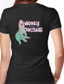 Wonky Dinosaur Womens Fitted T-Shirt