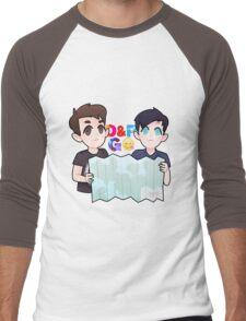 Dan and Phil Go Outside Men's Baseball ¾ T-Shirt