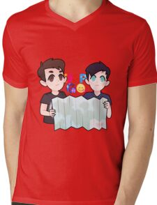 Dan and Phil Go Outside Mens V-Neck T-Shirt