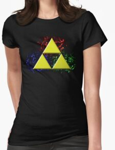 Smoky Triforce Womens Fitted T-Shirt