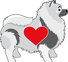 Keeshond by Maria Bell