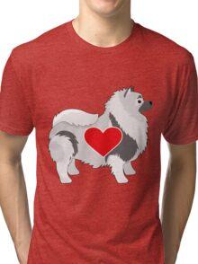Keeshond Tri-blend T-Shirt