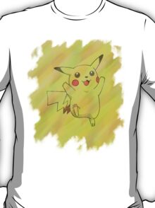 Watercolour Pikachu T-Shirt