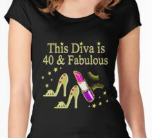 GOLD SPARKLING FABULOUS 40TH DESIGN Women's Fitted Scoop T-Shirt