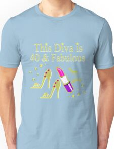 GOLD SPARKLING FABULOUS 40TH DESIGN Unisex T-Shirt