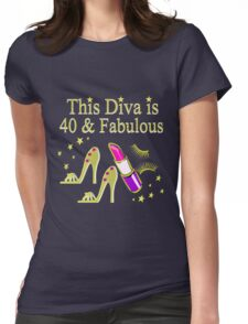 GOLD SPARKLING FABULOUS 40TH DESIGN Womens Fitted T-Shirt