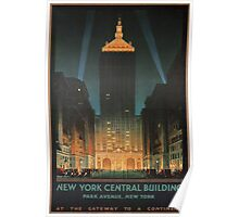New York City Vintage Travel Poster Poster