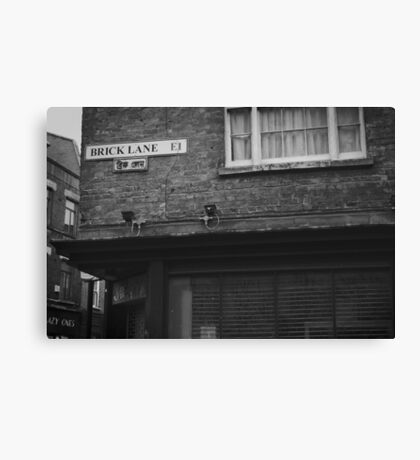 Brick Lane, London Canvas Print