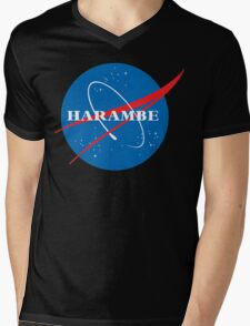 harambe NASA Mens V-Neck T-Shirt