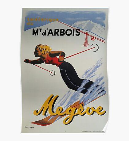 Vintage Ski Poster - Megeve - French Alps Poster