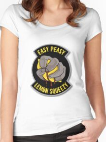 Easy Peasy Lemon Squeezy  Women's Fitted Scoop T-Shirt