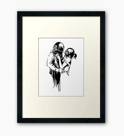 Banksy - Think Tank Framed Print