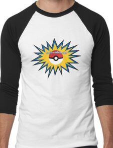 Pokeball splat Men's Baseball ¾ T-Shirt