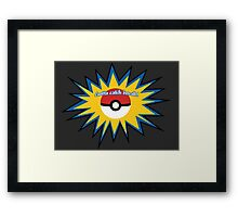 Pokeball splat Framed Print