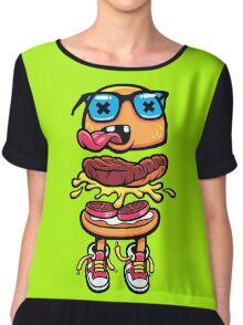Nerd Burger For Nerd People Chiffon Top