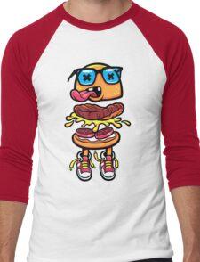 Nerd Burger For Nerd People Men's Baseball ¾ T-Shirt