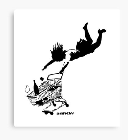Banksy - Shop 'til you drop Canvas Print