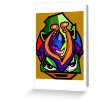 Face expression 4 Greeting Card