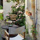 Backyard seating by bubblehex08