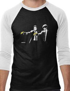 Banksy - Pulp Fiction Banana Guns Men's Baseball ¾ T-Shirt