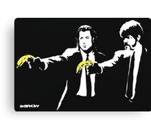 Banksy - Pulp Fiction Banana Guns Canvas Print