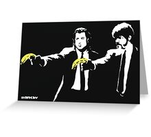 Banksy - Pulp Fiction Banana Guns Greeting Card
