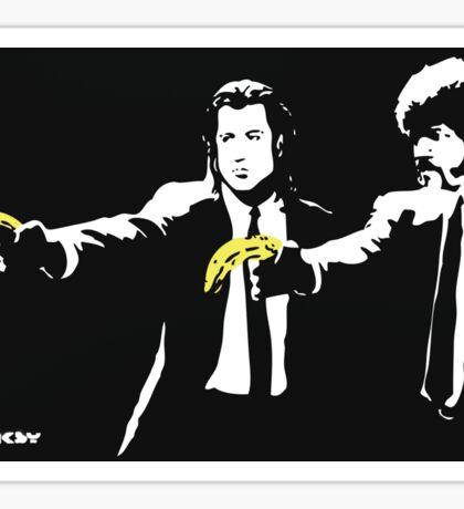 Banksy - Pulp Fiction Banana Guns Sticker