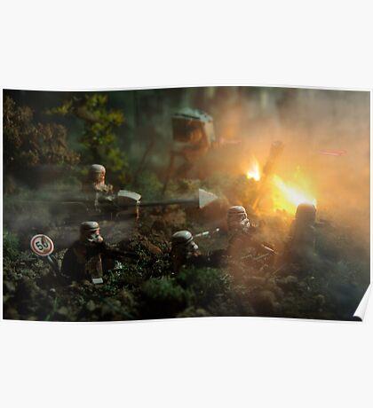 Star Wars Empire AT War jungle city Poster