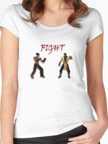 Tekken V.S. Mortal Kombat Women's Fitted Scoop T-Shirt