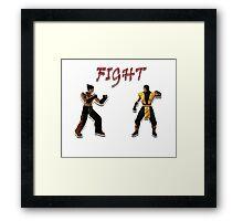 Tekken V.S. Mortal Kombat Framed Print