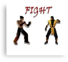 Tekken V.S. Mortal Kombat Canvas Print