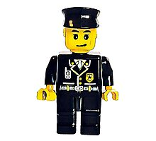Minifigure Lego Officer Photographic Print