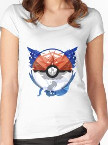 Pokemon GO Unity Crest Women's Fitted Scoop T-Shirt