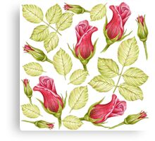 pattern with roses Canvas Print