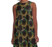 Yellow Green Fantasy A-Line Dress
