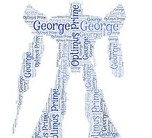 George Transformers 'Optimus Prime' Word Art  by HeckaDoodleDo