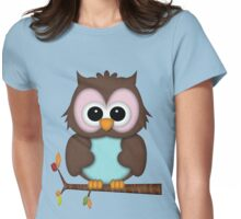 Mrs Owl  Womens Fitted T-Shirt