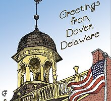 Delaware's Old State House Steeple Greetings by Jan Crumpley