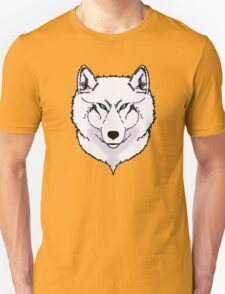 Blue eyes snow wolf Unisex T-Shirt