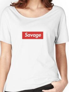 21 savage box logo Women's Relaxed Fit T-Shirt