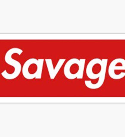 21 savage box logo Sticker