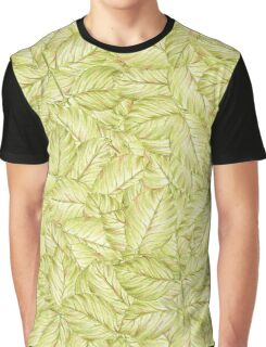 pattern with leaves of rose Graphic T-Shirt