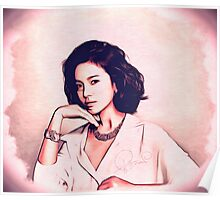 song hye kyo (송혜교), Korean actress photo art Poster